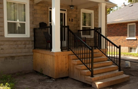 custom wooden porch stairs