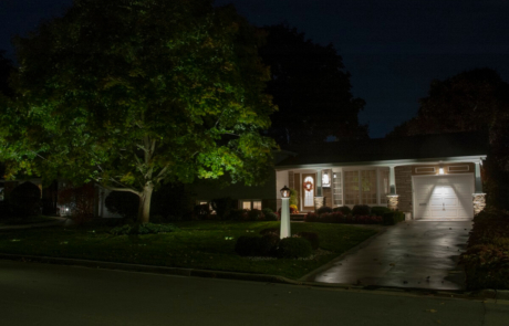 Front yard - Illuminated at Night - Ancaster